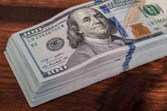 One hundred dollars banknotes isolated Royalty Free Stock Images