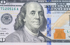 One hundred dollars banknotes. New one hundred dollars banknotes Royalty Free Stock Images