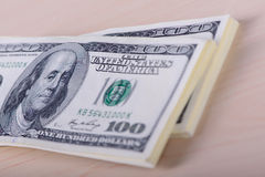One hundred dollars banknotes Stock Photos