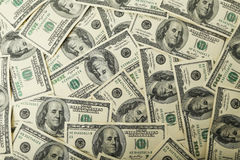 One hundred dollars bill background. Stock Images