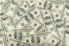 One hundred dollars bill background. Royalty Free Stock Photography