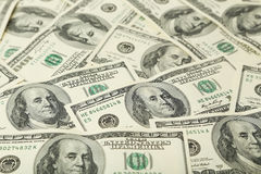 One hundred dollars bill background Stock Photos