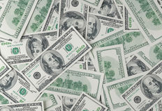 One hundred dollars bill background Royalty Free Stock Image