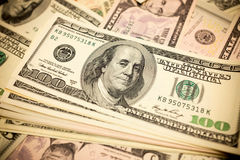 One hundred dollars bills background Stock Photography