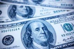 One hundred dollars bills background Stock Photos