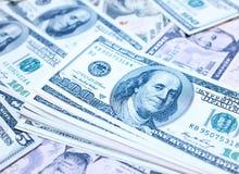 One hundred dollars bills background Royalty Free Stock Photo