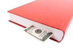 One hundred dollars in book Stock Photography