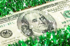 One hundred dollars a Christmas concept Royalty Free Stock Photo