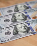 One hundred dollars - 100 Dollar paper money Stock Photo