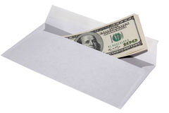 One hundred dollars in an envelope Stock Photos