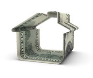 One Hundred dollars house Royalty Free Stock Photos