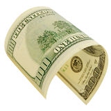 One hundred dollars isolated. Stock Photo