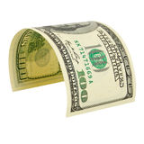 One hundred dollars isolated. Stock Photography