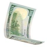 One hundred dollars isolated. Royalty Free Stock Photos