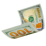 One hundred dollars isolated. Royalty Free Stock Images