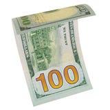 One hundred dollars isolated. Royalty Free Stock Photo