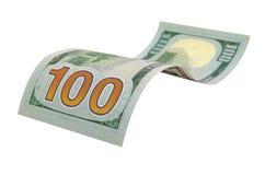 One hundred dollars isolated. Stock Photos