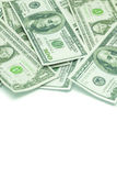 One hundred dollars and one dollars pile Stock Images
