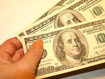 One hundred dollars. RAW format Royalty Free Stock Photo