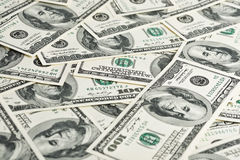 One hundred dollars pile Stock Images
