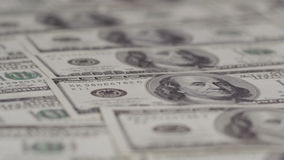 One hundred dollars pile as background stock video footage