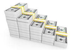 One hundred dollars stack Royalty Free Stock Image