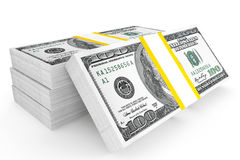 One hundred dollars stack Stock Images