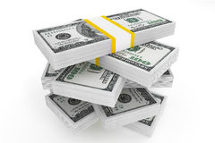 One hundred dollars stack Stock Image