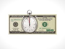 One hundred dollars - United States currency - time is money concept Stock Photography