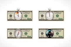 One hundred dollars - United States currency - time is money concept Stock Image