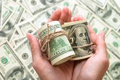 One hundred dollars US Stock Photography