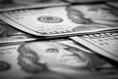 One Hundred Dollars. US One Hundred Dollar Bill Macro Royalty Free Stock Photos