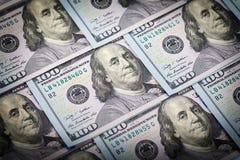 One Hundred Dollars. US One Hundred Dollar Bill Macro Stock Images