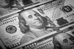 One Hundred Dollars. US One Hundred Dollar Bill Macro Royalty Free Stock Photo