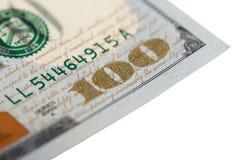 One Hundred Dollars. US One Hundred Dollar Bill Macro Royalty Free Stock Image