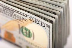 One Hundred Dollars. US One Hundred Dollar Bill Macro Stock Photography