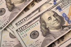 One Hundred Dollars. US One Hundred Dollar Bill Macro Stock Image