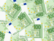 One hundred euro background. Background from a one hundred euro banknotes Stock Image