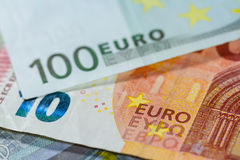 One hundred Euro banknote close up Royalty Free Stock Photography