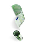 One hundred Euro banknote in form of a question mark Royalty Free Stock Images
