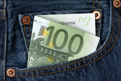 One hundred euro banknote Royalty Free Stock Images