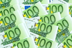 One hundred euro banknotes Royalty Free Stock Image