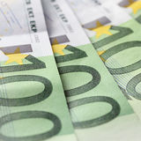 One Hundred Euro Banknotes. Closeup Royalty Free Stock Image