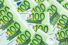 One hundred euro banknotes Royalty Free Stock Photos