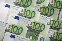 One hundred Euro Banknotes. Stack of one hundred Euro banknotes Stock Photography