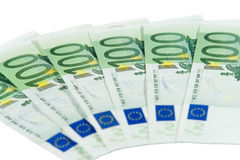 One-hundred euro bills Stock Photos