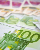 One hundred euro bills Royalty Free Stock Photo