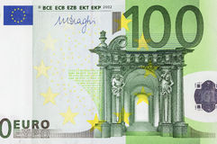 One hundred euro close-up Stock Photos