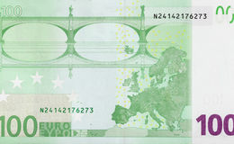 One hundred euro close-up! Stock Images