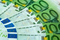 One hundred euro nominal banknotes Royalty Free Stock Images
